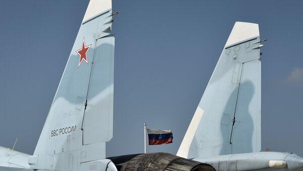 Истребитель СУ-30 СМ на авиабазе Хмеймим. Архивное фото