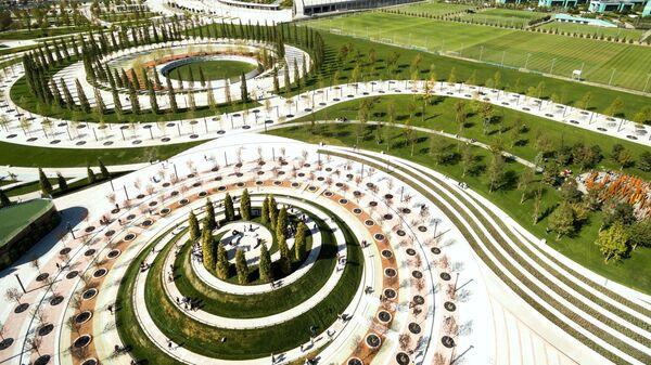 Территория нового парка возле стадиона ФК Краснодар