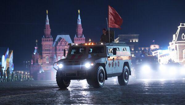 Бронеавтомобиль Патруль на репетиции военного парада на Красной площади, посвященного 73-й годовщине Победы в Великой Отечественной войне