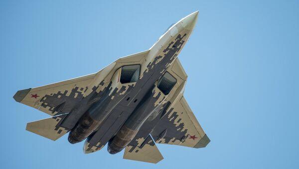 Многофункциональный истребитель Су-57. Архивное фото