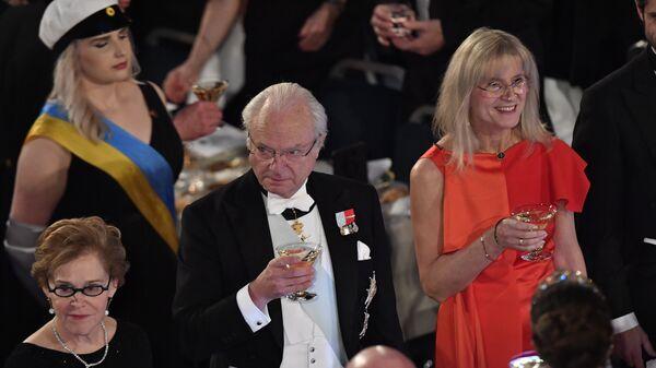 Король Швеции Карл XVI Густав на Нобелевском банкете. 10 декабря 2017