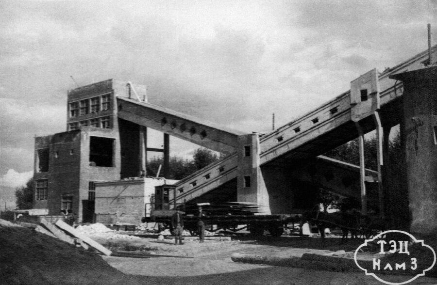 Новолипецкий металлургический завод. Транспортные галереи углеподачи ТЭЦ, 1948 год