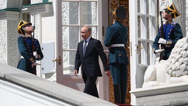 Президент РФ Владимир Путин после церемонии инаугурации. 7 мая 2018