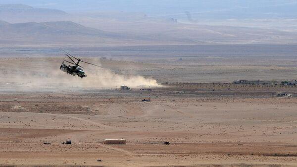 Вертолет Ка-52 в Сирии. Архивное фото