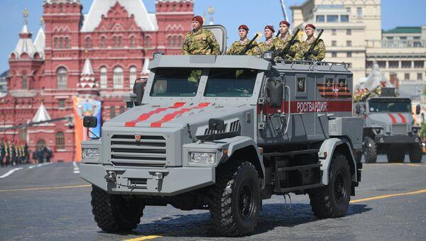Бронеавтомобиль Патруль на военном параде, посвященном 73-й годовщине Победы в ВОВ