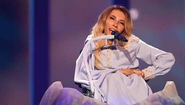 Певица Юлия Самойлова (Россия) во время репетиции второго полуфинала конкурса Евровидения-2018. Архивное фото