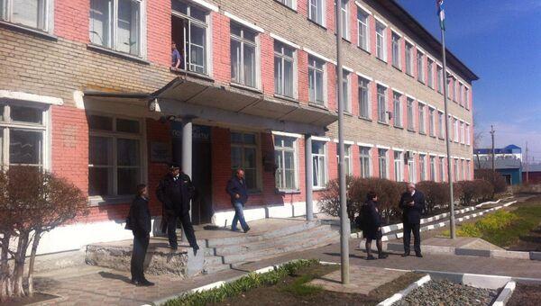 Здание колледжа в Новосибирской области, где произошла стрельба. 10 мая 2018