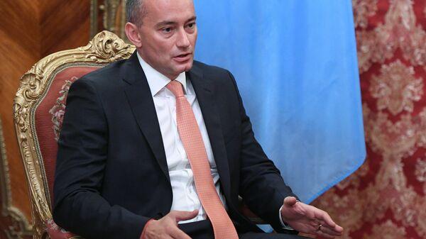 Специальный координатор ООН по ближневосточному мирному процессу Николай Младенов во время встречи с ИО МИД РФ Сергеем Лавровым. 11 мая 2018