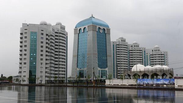 Высотный комплекс «Шали сити» в городе Шали. 11 мая 2018