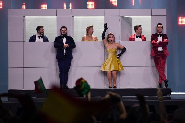 Молдавская группа DoReDos в финале конкурса Евровидение. 12 мая 2018