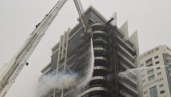Возгорание небоскреба Zen Tower, Дубаи. 13 мая 2018