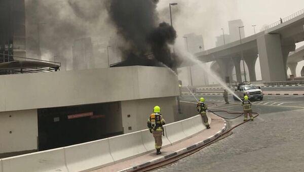 Тушение пожара в небоскребе Zen Tower, Дубаи. 13 мая 2018