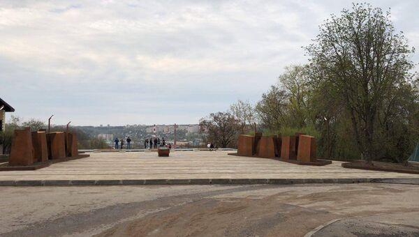 Мемориал на улице Ногина после окончания благоустройства