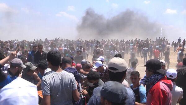 Дым, крики и стычки с полицией: протесты против переноса посольства США в Иерусалим