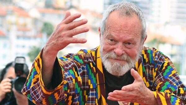 Режиссер Терри Гиллиам на фотосессии фильма Человек, который убил Дон Кихота в рамках 71-го Каннского международного фестиваля