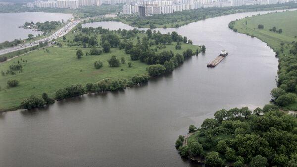 Вид на Москву-реку и район Строгино