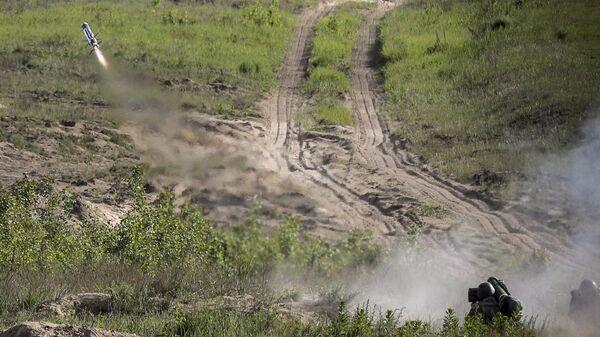 Испытания противотанковых комплексов Джавелин на Украине