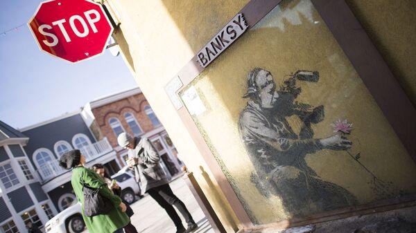 Граффити британского художника Бэнкси в штате Юта, США