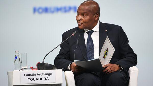 Президент Центральноафриканской Республики Фостен Арканж Туадера. Архивное фото