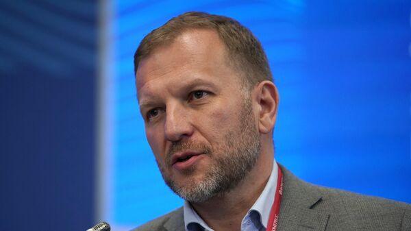 Директор по корпоративным связям Sputnik Петр Лидов на Петербургском международном экономическом форуме. 24 мая 2018