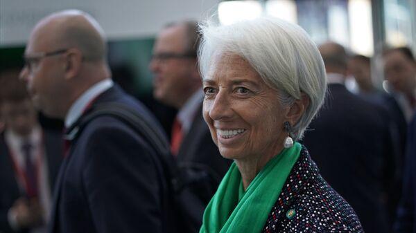 Директор–распорядитель МВФ Кристин Лагард на Петербургском международном экономическом форуме. 25 мая 2018