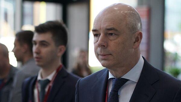 Первый заместитель председателя правительства РФ – министр финансов РФ Антон Силуанов на Петербургском международном экономическом форуме. 25 мая 2018