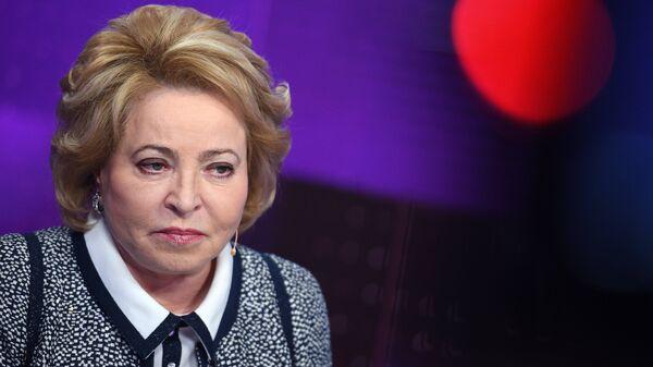 Председатель Совета Федерации РФ Валентина Матвиенко на Петербургском международном экономическом форуме. 25 мая 2018