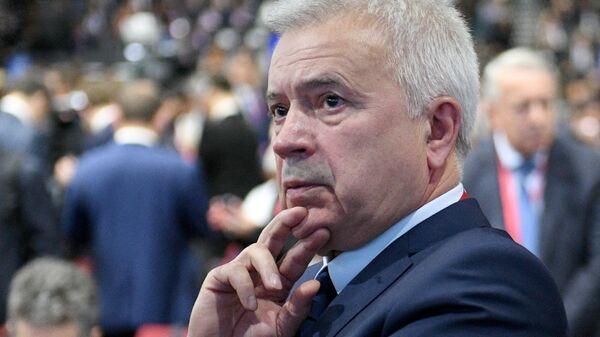 Генеральный директор компании Лукойл Вагит Алекперов на Петербургском международном экономическом форуме 2018