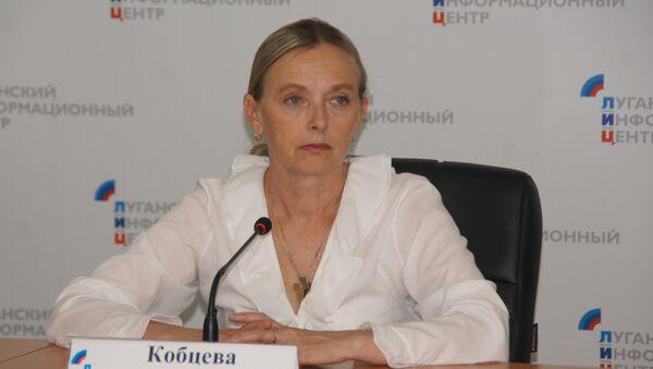 Руководитель рабочей группы самопровозглашенной Луганской народной республики по обмену военнопленных Ольга Кобцева. Архивное фото