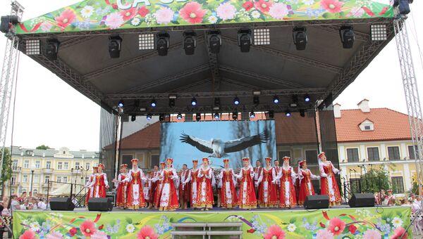 На фестивале в Гродно представили национальные подворья
