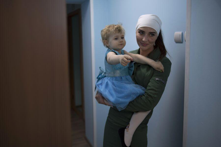 Осужденная с ребенком в центре совместного проживания осужденных с детьми в ИК №1 во Владимирской области