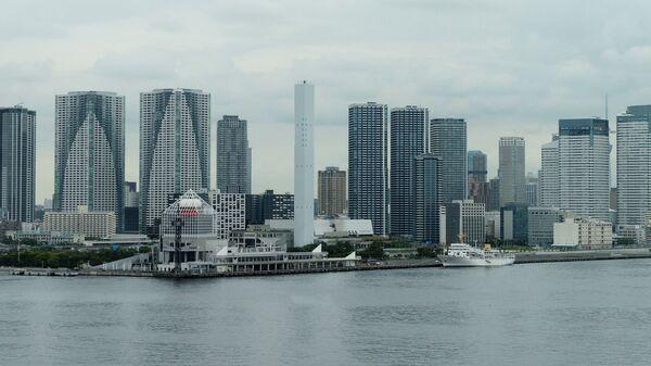 Небоскребы на берегу района Тюо в Токио