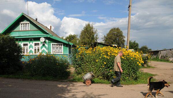 Регионы России. Деревня Старый Шимск Новгородской области