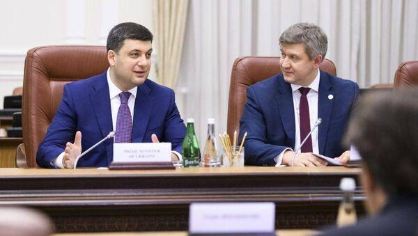 Премьер-министр Украины Владимир Гройсман и министр финансов Александр Данилюк