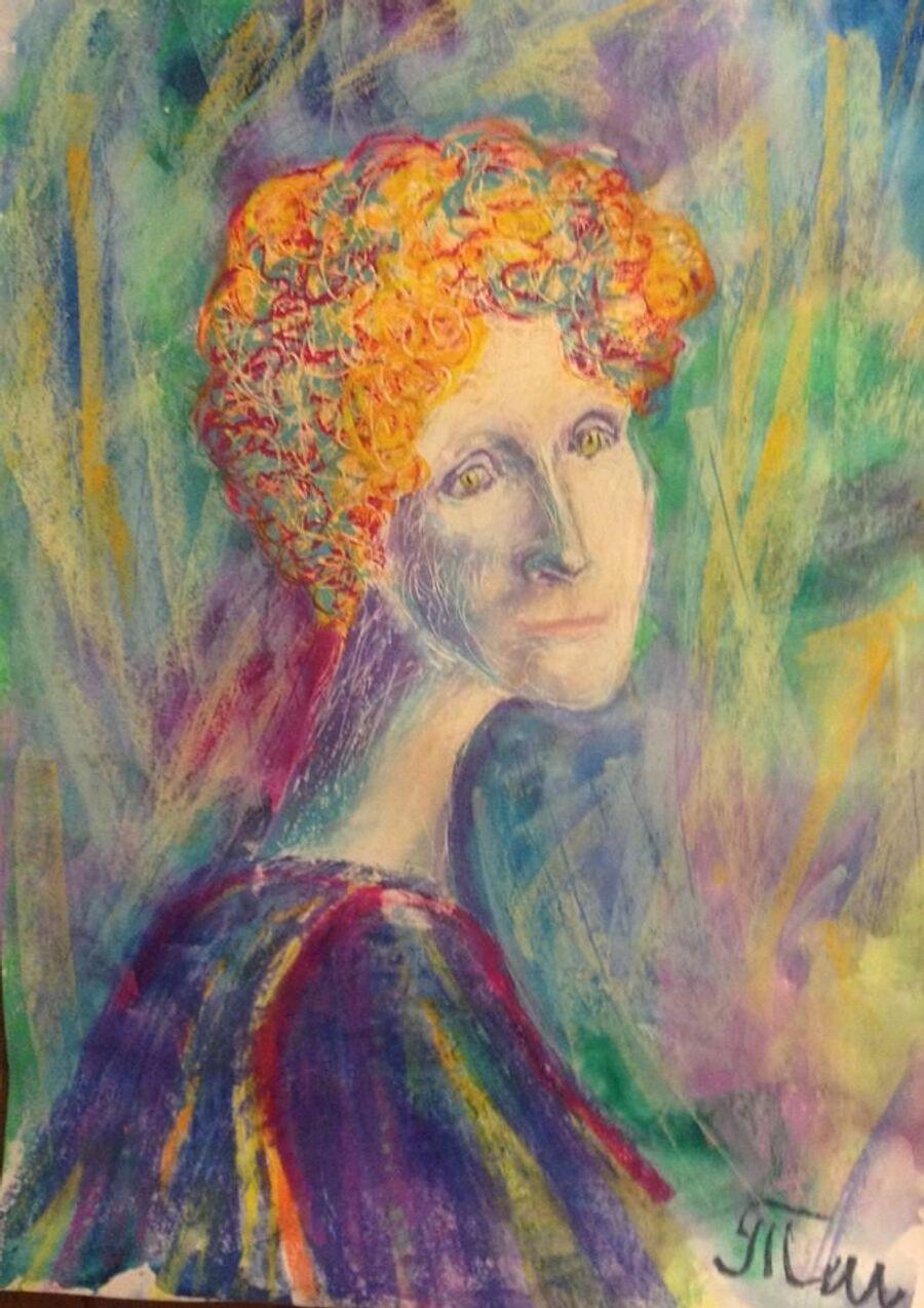 Одна из картин художника-аутиста Тима Штромана