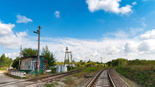 Железнодорожный переезд. Архивное фото