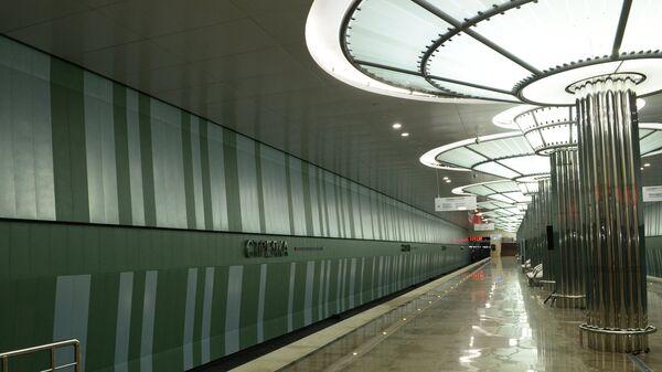 Станция метро Стрелка в Нижнем Новгороде
