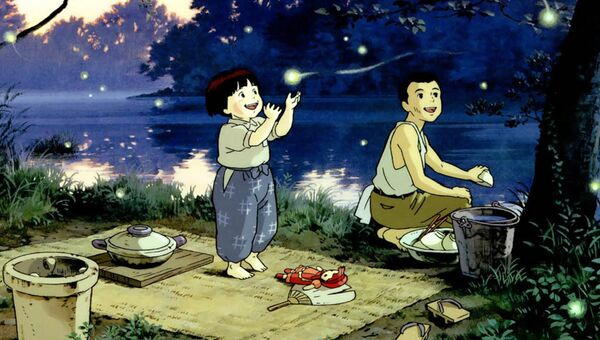 Кадр из аниме Могила светлячков(1988)