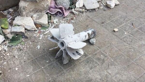 Последствия минометного обстрела жилого района города Алеппо. 13 июня 2018
