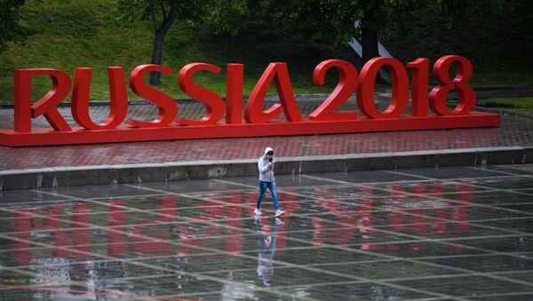 Символика чемпионата мира по футболу в Екатеринбурге. Архивное фото