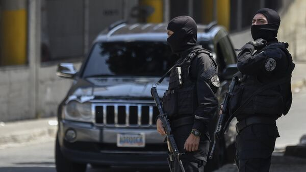 Сотрудники полиции в Каракасе, Венесуэла