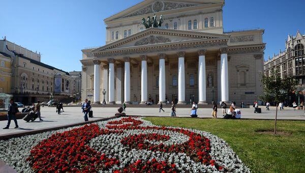 На площади у Большого театра в Москве. Архивное фото