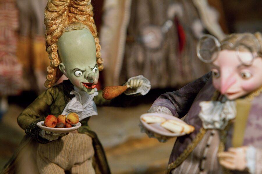 Куклы-персонажи из полнометражного кукольного мультфильма режиссера Станислава Соколова Гофманиада