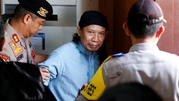Аман Абдуррахман в суде в Джакарте. 22 июня 2018