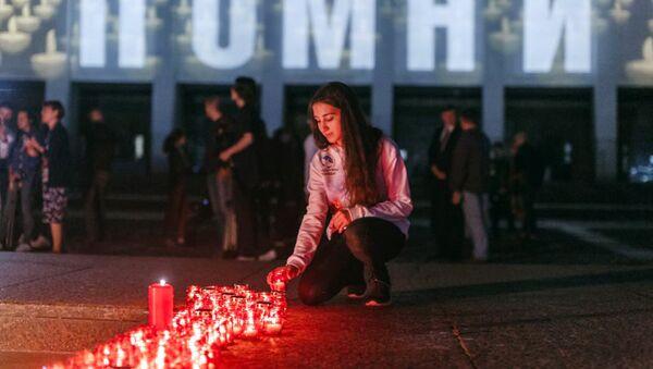Волонтеры приняли участие во всероссийской акции Свеча памяти
