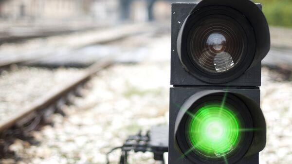 Семафор на железной дороге. Архивное фото