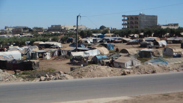 Палаточный городок в сирийском Аазазе. Архивное фото