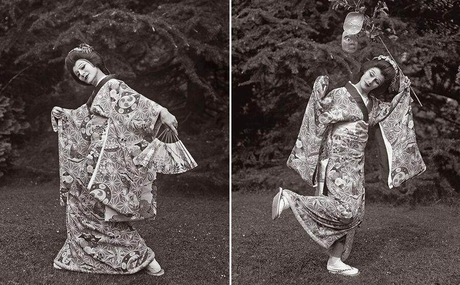 Анна Павлова исполняет сольный японский танец
