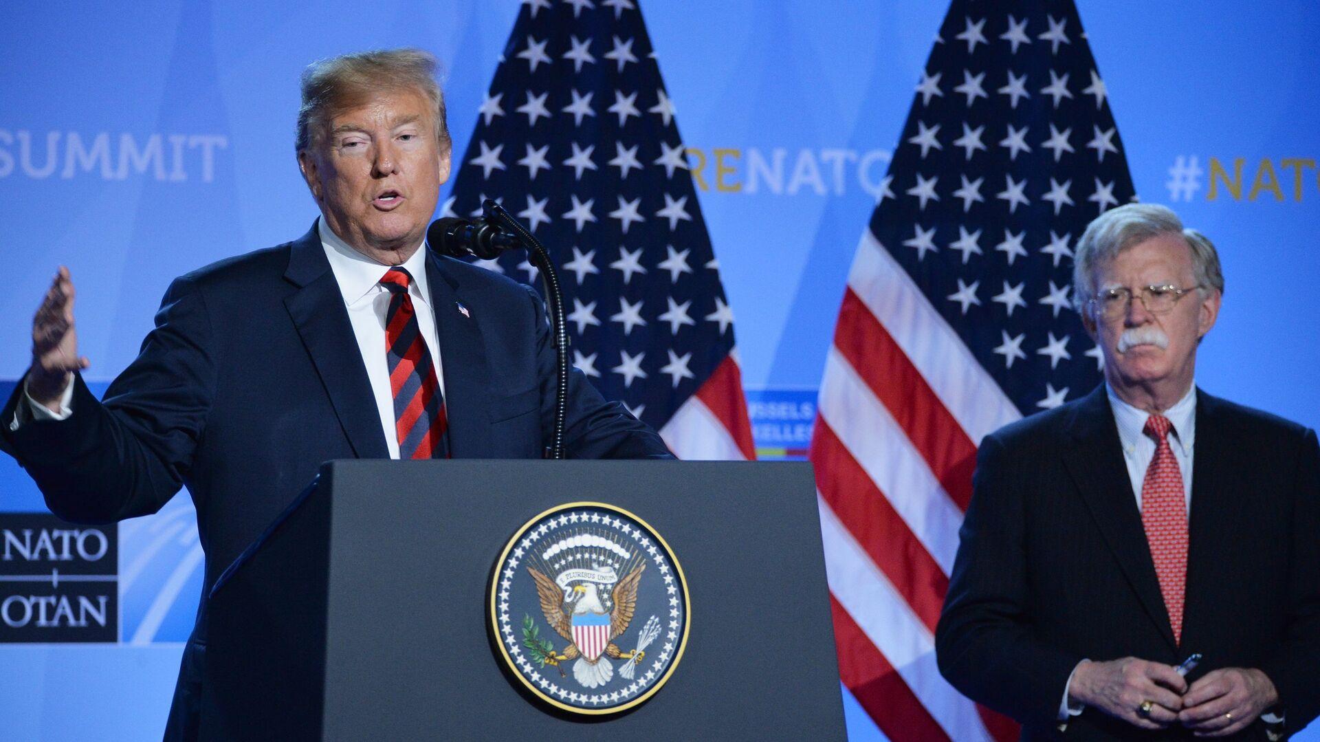 Президент США Дональд Трамп на саммите НАТО в Брюсселе - РИА Новости, 1920, 07.09.2020