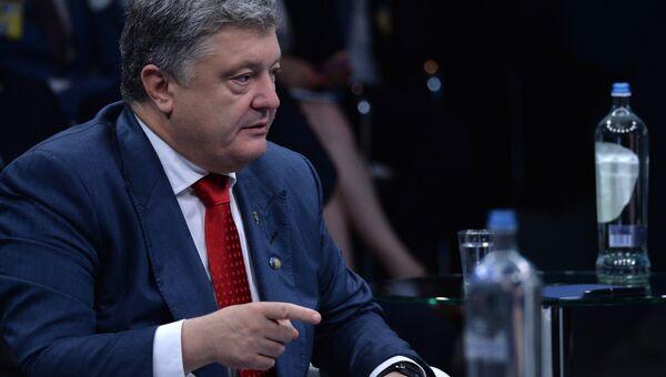 Президент Украины Петр Порошенко на саммите НАТО в Брюсселе. 12 июля 2018